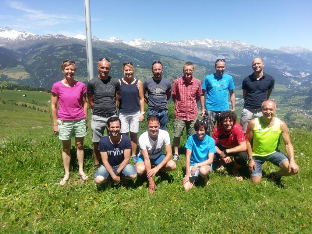 Gruppen Foto auf Bündner Rigi